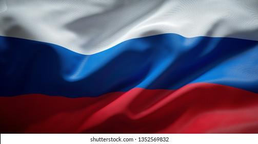 Russische Flagge. Russland.