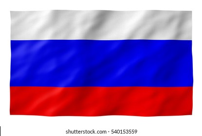 Russian flag TEXTURED  Exclusive Fotolia. Part of a set