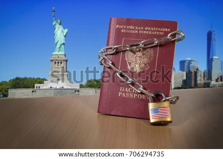 Russian foreign passport with