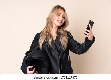 Russian girl selfie