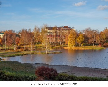 Russian Karelia. Autumn In Petrozavodsk