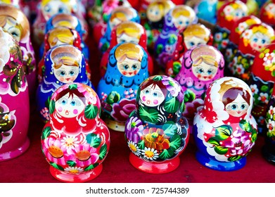 Russian matryoshka doll for sale to tourists