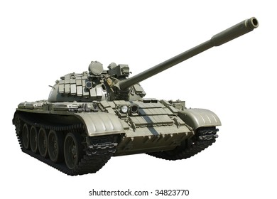 Russian military tank isolated