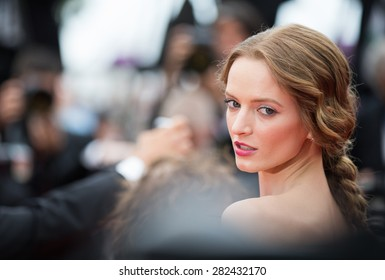 Russian model Daria Strokous attends the Premiere of 'Sicario' during the 68th annual Cannes Film Festival on May 19, 2015 in Cannes, France.