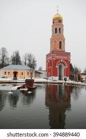 Russian monastery Davydova pustyn, Moscow region, Russia, 7th March 2016