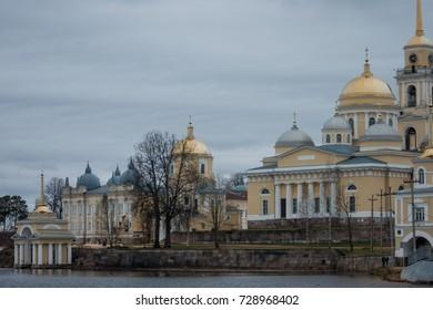 Russian monastery Nilova Pustyn, Tver oblast, lake Seliger