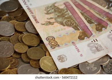 russian money for backgrounds and illustrations. banknotes and coins