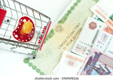 Russian money and a dummy, the concept of increasing fertility in