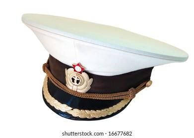 Russian navy summer  service (peak) cap.
