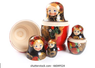 """Russian nested dolls, also known as matryoshka, """"matryoshka principle"""" or """"nested doll principle""""."""