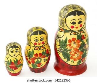 Russian nesting doll, symbol, white background