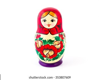 Russian nesting dolls. Babushkas or matryoshkas. One