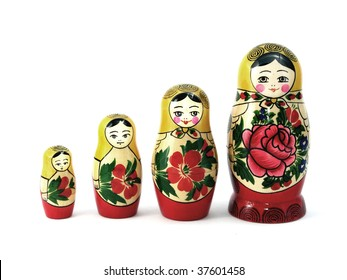 Russian nesting dolls in order