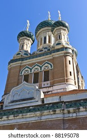 The Russian Orthodox Cathedral of Saint-Nicolas de Nice is a national monument of France, located in the city of Nice, French Riviera. Opened in 1912, thanks to the generosity of Tsar Nicholas II.