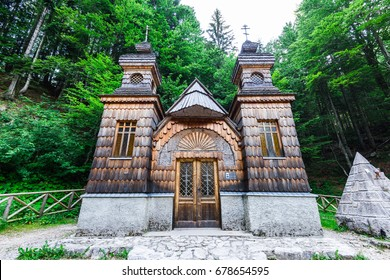 Russian orthodox chapel in Vrsic Pass, Triglav, Slovenia.