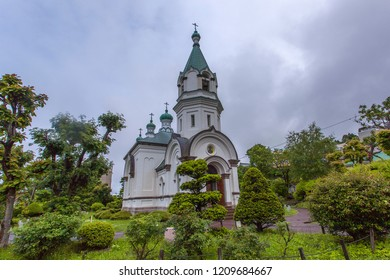 Russian Orthodox Church founded in 1859 by the Russian Consulate. The existing building, built in 1916, is known as a representation of western-style buildings in Hakodate. 12 June 2018