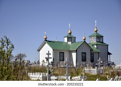 Russian Orthodox Church at Ninilchik, Alaska, along the Seward Highway.