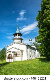 Russian Orthodox Church on a Sunny summer day in the village Kagirovo, Kostroma oblast.