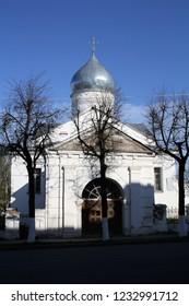 Russian orthodox church in Veliky Novgorod. (Novgorod Kremlin (Detinets), Veliky Novgorod, Russia. May 7, 2012