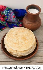 Russian pancakes Maslenitsa