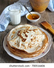 Russian pancakes on a plate