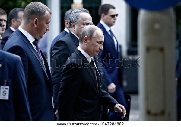 Russian President Vladimir Putin Walks Presidential Stock Photo Edit Now 1047286882
