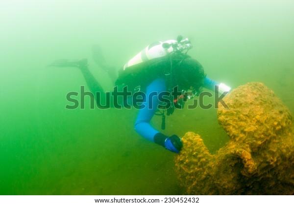 russian professional scuba diver