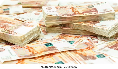 Russian rubles, five thousand bill.