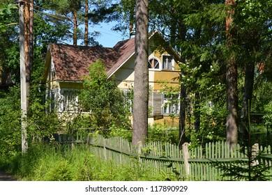 Russian rural house in Leningrad Region, Russia