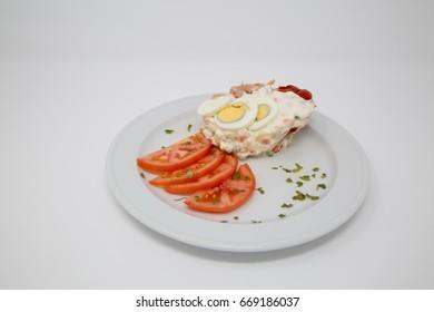 Russian salad, typical spanish food