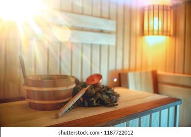 Russian sauna broom / sauna accessories, broom for sauna, Russian traditional sauna, steam bath with broom hot steam