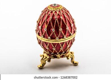 Russian souvenir, egg casket copy of Faberge