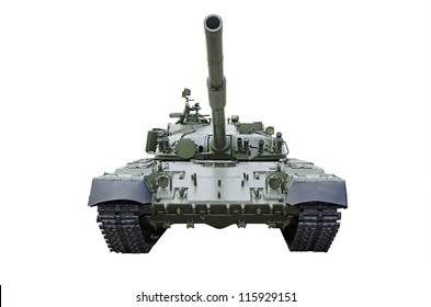 Russian tank, isolated over white