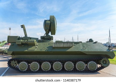 The Russian tank. Military equipment.