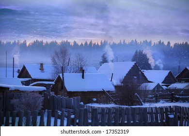Russian village winter