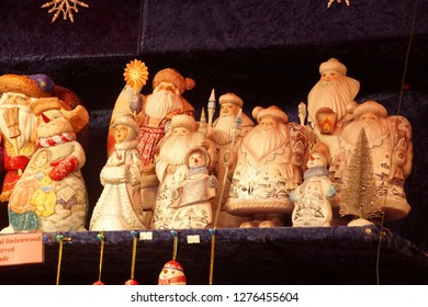 Russian wooden dolls at the Christmas market,Cologne, Germany