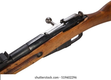 Russian ww1 period Mosin-Nagant rifle isolated on white