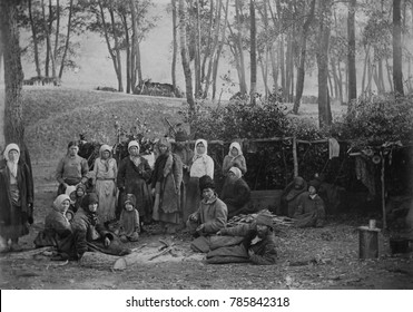 Russians camped out during the famines of 1918-1921. WW1, the Russian Revolution, the civil war, and drought contributed to crop and food distribution failure