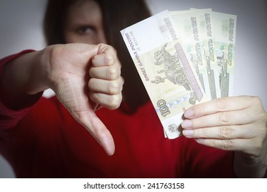 Russia's ruble crisis ilustration picture