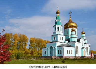 RUSSIA-TOPKI 2014: Orthodox Church of Sergius of Radonezh city Topki,Kemerovo region.