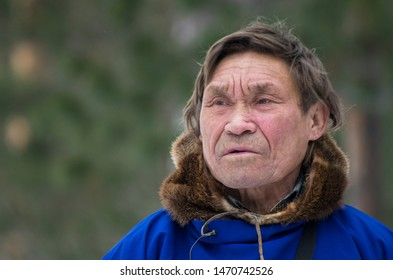 "Russkinskaya village, Khanty-Mansiysk Autonomous Okrug / Russia - 03.21-24.2016: The traditional ritual celebration of the Eastern Khanty ""The Bear games». Khanty-shaman."