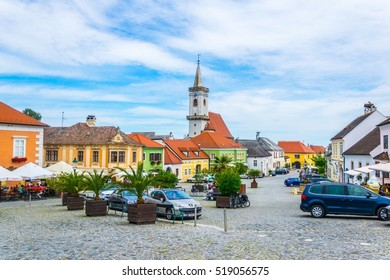 RUST, AUSTRIA, JUNE 18, 2016: View of the Austrian city Rust famous for ist wine and nesting storks.