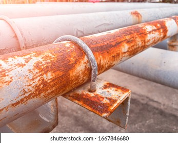 Rust and corrosion in the pipeline and metal skin.Corrosion of metal.Rust of metals.Old pipeline in .