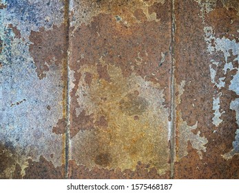 Rust floor abstract background. Dirty wall.