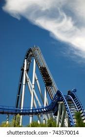 RUST, GERMANY - 4 JULY 2011: Rollercoaster in Europa Park, Rust, Germany