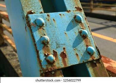 Rust of metals. Corrosion of metal. Rust and corrosion in the weld. Corrosive Rust on old iron, grunge rust texture, Rush on metal fence or structure of old bridge.