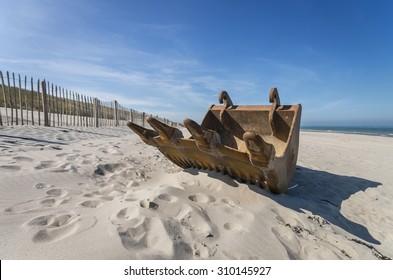 Rust on the beach