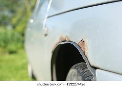 rust on the car