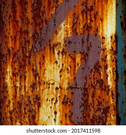 Rust on metal. Texture, background, pattern. When iron comes into contact with water and oxygen, it rusts. If salt is present, such as in seawater or salt spray, iron tends to rust more rapidly.