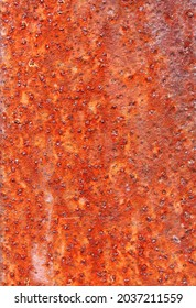 Rust on metal. Texture, background, pattern. When iron comes into contact with water and oxygen, it rests. If salt is present, e.g. B. in sea water or salt spray, iron tends to rust faster.